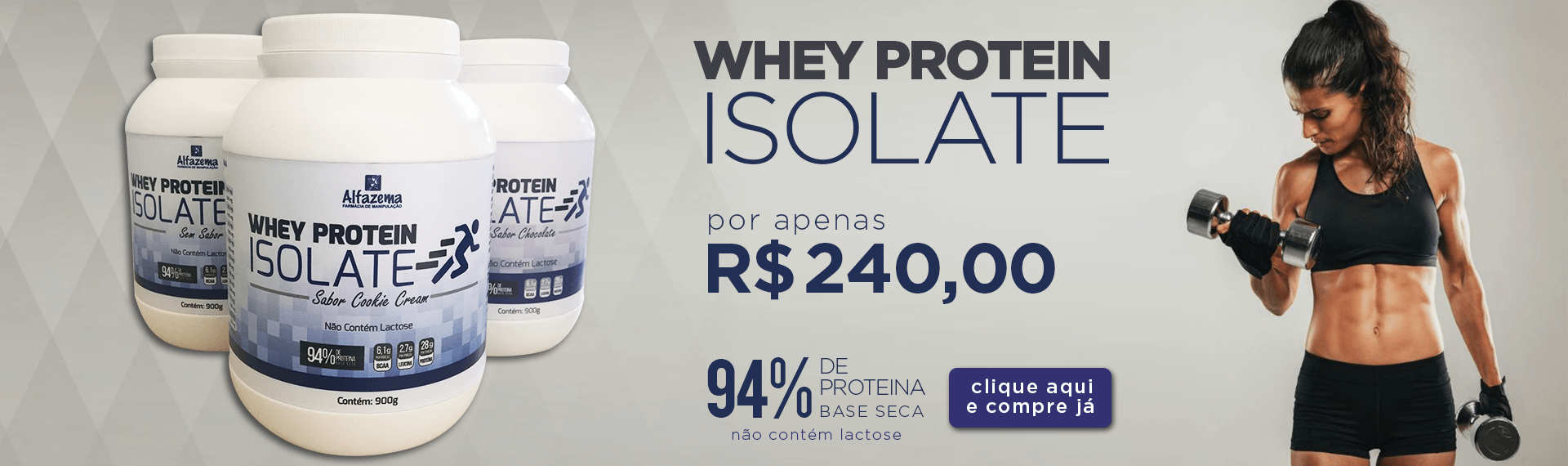 Whey Protein Isolate 94% Pote 900g